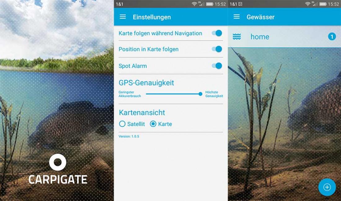 Carpigate / Die GPS-App für Karpfenangler