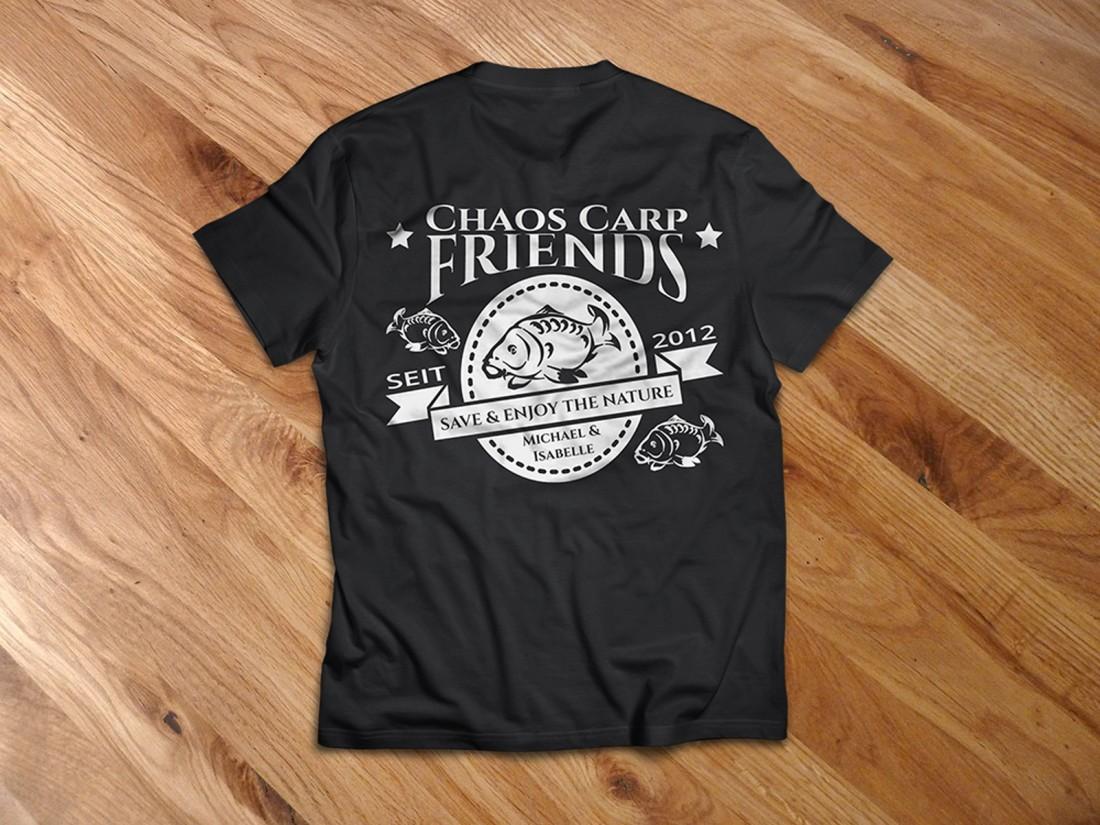 Team-Shirts für die Chaos Carp Friends